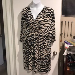 Zebra pocket dress